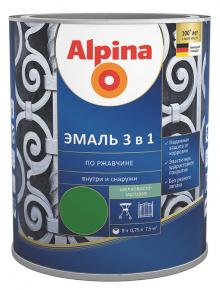 Alpina эмаль по ржавчине 3 в 1 (2,5л; 0,75л)