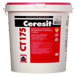 Ceresit CT 175 силикатно силиконовая, короед 2 мм