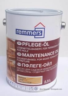 Remmers Pflege-Öl масло для улицы и интерьера
