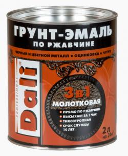 DALI  Грунт-эмаль по ржавчине 3 в 1 / 2л