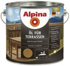 Alpina «Öl für Terrassen» масло на водной основе (2,5л; 0,75л)